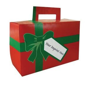 Holiday Donut Gift Box w/ Green Bow
