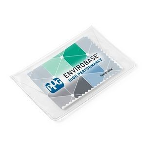 "Synthetix™ Cleaning Cloth in Vinyl Pouch (6"" x 6"") - Full Color"